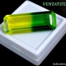 Coleccionismo de gemas: ALEJANDRITA BICOLOR DE 48,25 KILATES CON CERTIFICADO IGL MEDIDA 39X14X10 MILIME = 3,9X1,4 CENTI-Nº13. Lote 118265823