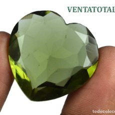 Coleccionismo de gemas: TOPACIO VERDE CORAZON 49,10 KILATES CON CERTIFICADO IGL MEDIDA 28X28X10 MILIME = 2,8X2,8 CENTI-Nº2. Lote 118277163
