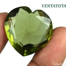 Coleccionismo de gemas: TOPACIO VERDE CORAZON 53,45 KILATES CON CERTIFICADO IGL MEDIDA 28X28X12 MILIME = 2,8X2,8 CENTI-Nº7. Lote 118277447