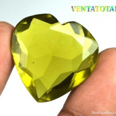 Coleccionismo de gemas: TOPACIO VERDE CORAZON 45,30 KILATES CON CERTIFICADO IGL MEDIDA 29X28X10 MILIME = 2,9X2,8 CENTI-Nº3. Lote 118278187