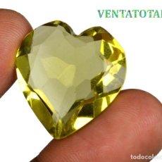 Coleccionismo de gemas: TOPACIO VERDE CORAZON 50,90 KILATES CON CERTIFICADO IGL MEDIDA 29X28X10 MILIME = 2,9X2,9 CENTI-Nº4. Lote 118279107
