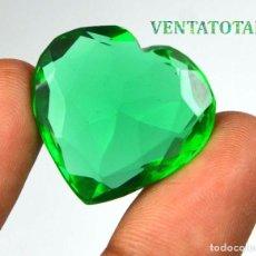 Coleccionismo de gemas: MOLDAVITA VERDE DE 38,45 KILATES CON CERTIFICADO IGL MEDIDA 26X24X9 MILIME = 2,6X2,4 CENTI-Nº7. Lote 118354247