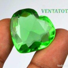 Coleccionismo de gemas: MOLDAVITA VERDE DE 48,35 KILATES CON CERTIFICADO IGL MEDIDA 26X24X12 MILIME = 2,6X2,4 CENTI-Nº8. Lote 118357331