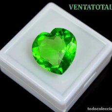 Coleccionismo de gemas: MOLDAVITA VERDE DE 28,95 KILATES CON CERTIFICADO IGL MEDIDA 23X22X10 MILIME = 2,3X2,2 CENTI-Nº3. Lote 118358207