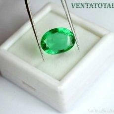 Coleccionismo de gemas: ESMERALDA DE 5,60 KILATES CON CERTIFICADO IGL MEDIDA 13X9X7 MILIM = 1,3X0,9 CENTI-Nº79. Lote 118425299