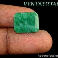 Coleccionismo de gemas: ESMERALDA COLOMBIANA DE 10 KILATES MEDIDA 1,4 X 1,3 CENTIMETROS - Nº40. Lote 271697358