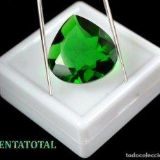 Coleccionismo de gemas: AMATISTA LAGRIMA VERDE DE 22,00 KILATES MEDIDA 2,1 X 2,1 CENTIMETROS - Nº12. Lote 118682975