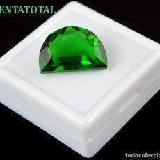 Coleccionismo de gemas: AMATISTA ENPANADILLA VERDE MUY RARA DE 17,60 KILATES MEDIDA 2,1 X 1,4 CENTIMETROS - Nº9. Lote 118683423