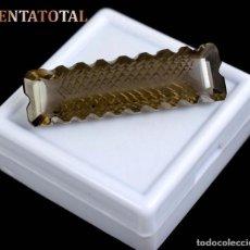 Coleccionismo de gemas: RARO TOPACIO MARRON DE 38,25 KILATES MIDE 4,0 X 1,2 CENTIMETROS - Nº12. Lote 118688431