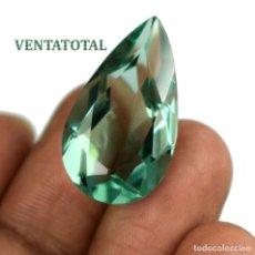 Coleccionismo de gemas: TOPACIO LAGRIMA VERDE DE 22,60 KILATES MIDE 2,6 X 1,5 CENTIMETROS - Nº10. Lote 118689639
