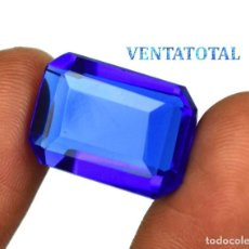 Coleccionismo de gemas: TOPACIO AZUL DE 18,15 KILATES MIDE 1,6 X 1,4 CENTIMETROS - Nº9. Lote 118690851