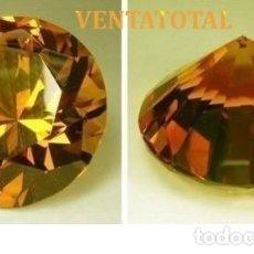 Coleccionismo de gemas: CITRINO TALLA DIAMANTE AMARILLO ANARANJADO DE 17,90 KILATES MIDE 1,8 X 1,8 CENTIMETROS - Nº5. Lote 118695667