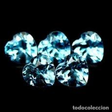 Coleccionismo de gemas: TOPACIO AZUL SUIZO 5,5 X 5,5 MM.. Lote 176829494