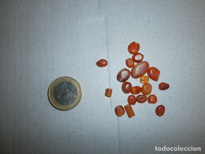 LOTES DE 19 PIEZAS DE CORNALINA Y 28 DE AMATISTA NATURAL (Coleccionismo - Mineralogía - Gemas)