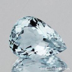 Coleccionismo de gemas: AGUAMARINA AZUL CLARO 3.26 CT. CERTIFICADO IGI. Lote 120233707