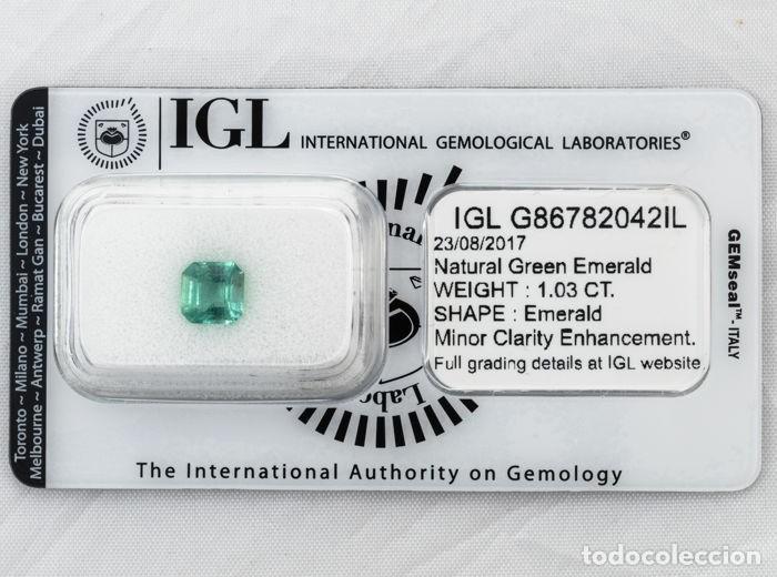 Coleccionismo de gemas: Esmeralda natural certificada 1,03ct - Foto 7 - 158463789