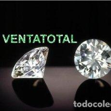 Coleccionismo de gemas: ZAFIRO BLANCO TALLA DIAMANTE DE 16,70 KILATES Y MIDE 1,4 X 1,4 CENTIMETROS - Nº120. Lote 120775175