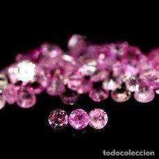 Coleccionismo de gemas: ZAFIRO ROSA 1,4 A 1,6 MM TALLA DIAMANTE. Lote 210062011