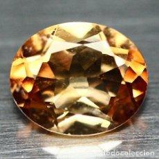 Coleccionismo de gemas: TOPACIO CHAMPAN 11.7 X 9.7 MM. Lote 219302930