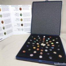 Coleccionismo de gemas: COLECCIÓN DE 50 GEMAS, CON CADENA DE PLATA DE LEY Y LIBRO EXPLICATIVO. Lote 122211431
