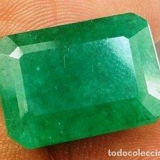 Coleccionismo de gemas: ESMERALDA COLOMBIANA NATURAL 10.95 CARATS CERTIFICADO GIE DE CALIDAD IMPRESIONANTE . Lote 124857251