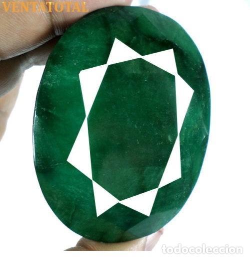 GIGANTE ESMERALDA DE MUSEO DE 890 KILATES CON CERTIFICADO KGCL - MEDIDA 6,6 X 5,1 CENTIMETROS - Nº3 (Coleccionismo - Mineralogía - Gemas)