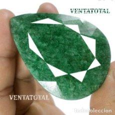 Coleccionismo de gemas: GIGANTE ESMERALDA LAGRIMA DE 253,55 KILATES - MEDIDA 6,1 X 4,5 CENTIMETROS - Nº15. Lote 125155083