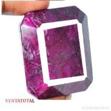 Coleccionismo de gemas: GIGANTE RUBI ROJO SANGRE DE PICHON DE 375 KILATES - MEDIDA 4,4 X 3,7 CENTIMETROS - Nº4. Lote 125156311