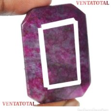 Coleccionismo de gemas: GIGANTE RUBI ROJO SANGRE DE PICHON DE 230,30 KILATES - MEDIDA 4,2 X 3,0 CENTIMETROS - Nº3. Lote 140058769