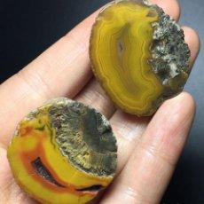 Coleccionismo de gemas: GEODA DE AGATA - NATURAL CARNELIAN - CRYSTAL QUARTZ. Lote 125199663