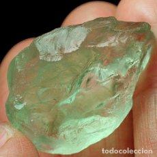 Coleccionismo de gemas: AMATISTA NATURAL VERDE 110.4CT VVS BRUTO BRASIL LOTE DE TRES PIEZAS. Lote 125243827