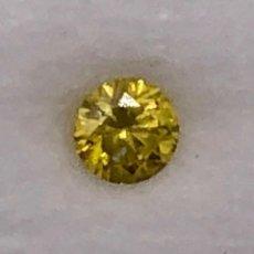 Coleccionismo de gemas: DIAMANTE AMARILLO INTENSO NATURAL - 0.16 CT - CON GIL CERTIFICADO. Lote 125445863