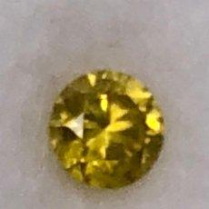 Coleccionismo de gemas: DIAMANTE AMARILLO INTENSO NATURAL - 0.14 CT - CON GIL CERTIFICADO. Lote 125832011