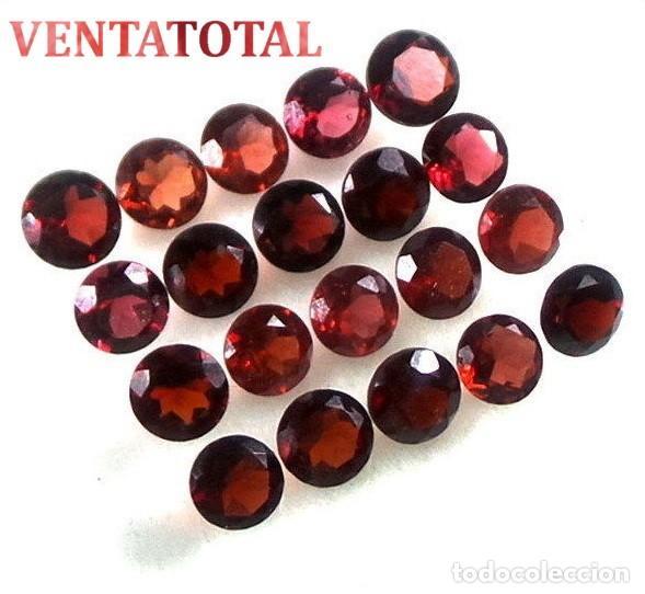 20 GRANATES AFRICANOS TALLA DIAMANTE PERFECTOS DE 12,85 KILATES - MEDIDA 5 X 5 MILIMETROS - Nº3 (Coleccionismo - Mineralogía - Gemas)