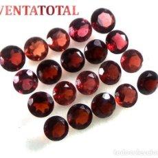 Coleccionismo de gemas: 20 GRANATES AFRICANOS TALLA DIAMANTE PERFECTOS DE 12,85 KILATES - MEDIDA 5 X 5 MILIMETROS - Nº3. Lote 126176791