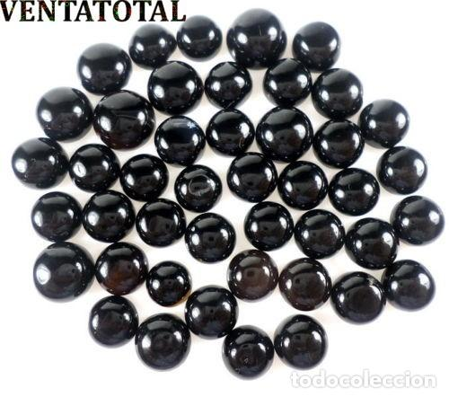 44 ONIX AFRICANOS TALLA REDONDA PERFECTOS DE 99,80 KILATES - MEDIDA 1 X 1 CENTIMETROS - Nº1 (Coleccionismo - Mineralogía - Gemas)