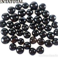 Coleccionismo de gemas: 44 ONIX AFRICANOS TALLA REDONDA PERFECTOS DE 99,80 KILATES - MEDIDA 1 X 1 CENTIMETROS - Nº1. Lote 126177491