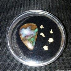 Coleccionismo de gemas: EXCELENTE OPALO MULTICOLOR - 5 PEPITAS DE ORO (AUSTRALIA)GOLD NUGGETS -OPAL. Lote 128491858