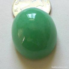 Coleccionismo de gemas: PRECIOSO CABUJÓN DE JADE JADEITA A, VERDE CLARO DE 97,40 QUILATES.. Lote 129197811