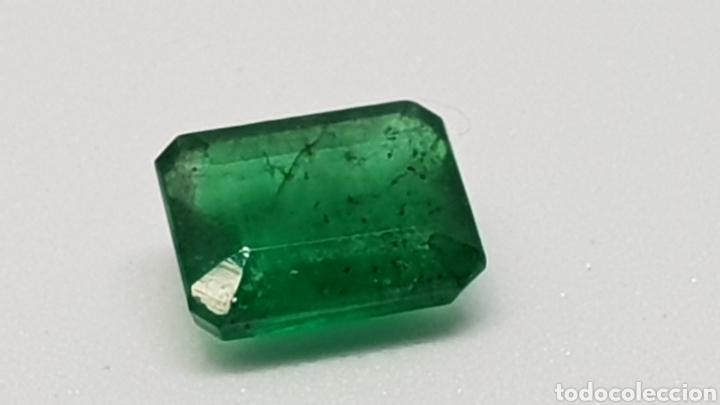 ESMERALDA NATURAL, 1,30 CT VERDE OSCURO (Coleccionismo - Mineralogía - Gemas)