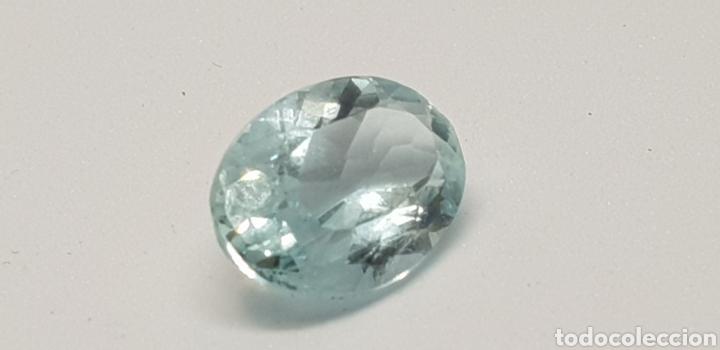 AGUAMARINA 3,55CT CLARIDAD VVSS1 (Coleccionismo - Mineralogía - Gemas)
