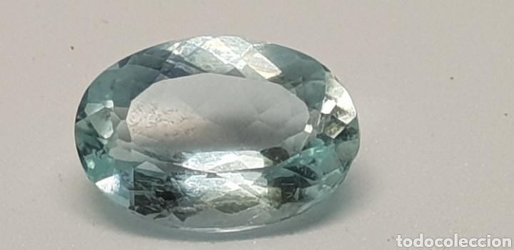Coleccionismo de gemas: AGUAMARINA 3,55CT CLARIDAD VVSS1 - Foto 3 - 129639715