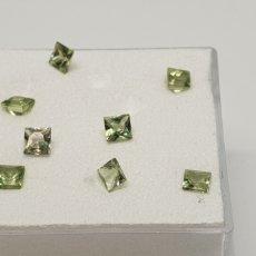 Coleccionismo de gemas: ZAFIROS NATURALES VERDES INTENSO DE 0,12CT Y 2,6 MM CADA UNO ,12 EU POR UNIDAD. Lote 129640778