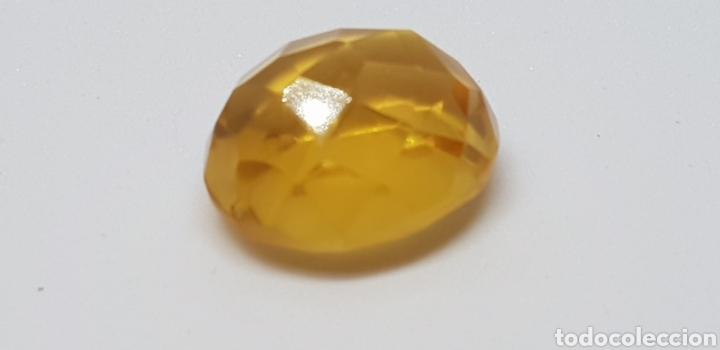 Coleccionismo de gemas: Citrino 12,75 ct amarilo naranja intenso - Foto 2 - 129670172