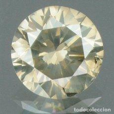 Coleccionismo de gemas: DIAMANTE NATURAL 0.21 CTS. MARRÓN CAFÉ CERTIFICADO CORTE BRILLANTE REDONDO . Lote 130585238