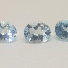 Coleccionismo de gemas: 3 TOPACIOS AZULES CIELO 6,90 CT. Lote 58286052