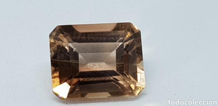 TOPACIO COLOR IMPERIAL DE 5 CT TALLA ESMERALDA , CLARIDAD VVSS1 (Coleccionismo - Mineralogía - Gemas)