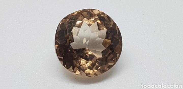 TOPACIO IMPERIAL DE 5,05 CT TALLA REDONDA (Coleccionismo - Mineralogía - Gemas)