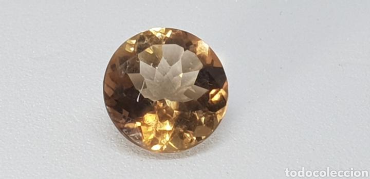 TOPACIO IMPERIAL DE 3,90 CT TALLA BRILLANTE (Coleccionismo - Mineralogía - Gemas)