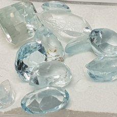 Coleccionismo de gemas: TOPACIOS AZUL CLARO 9,30 CT DE VARIAS MEDIDAS Y TALLAS SOBRE 5 MM. Lote 131445815